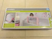 Brand new unopened Lindam pink bed guard