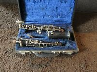 selmer sterling oboe Blackwood, stamped Selmer, Sterling, foreign 3438