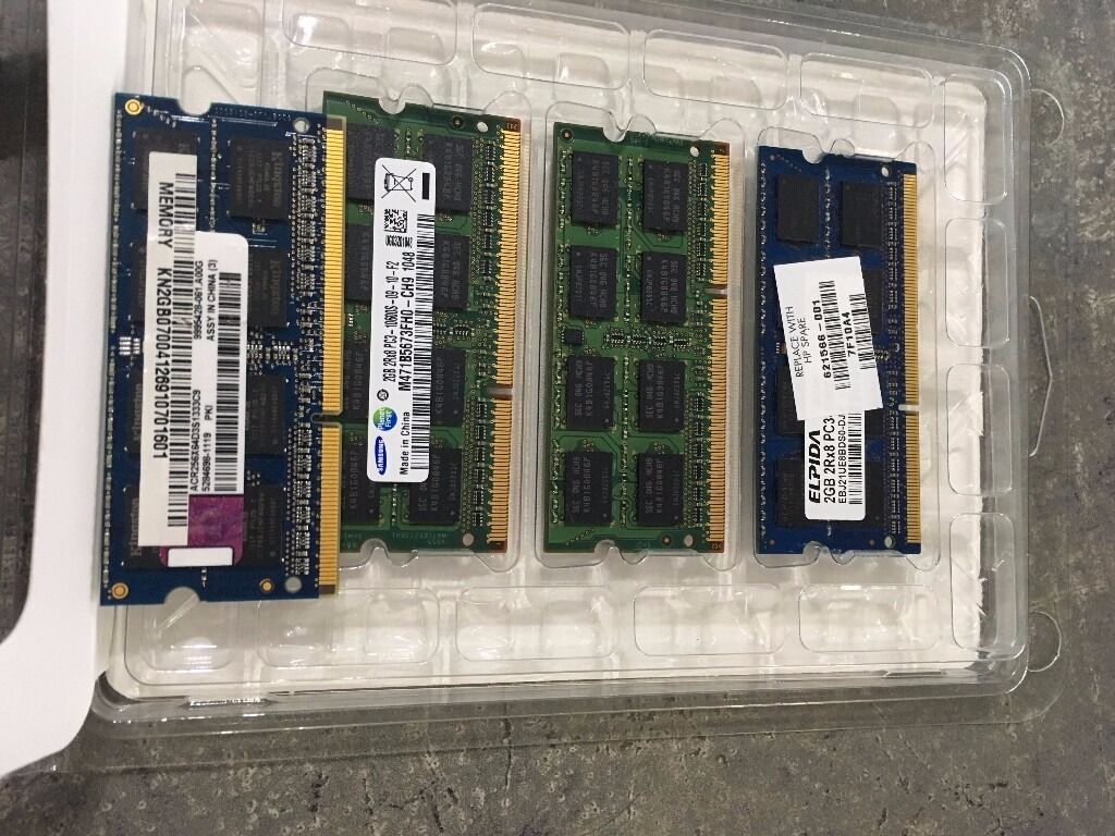 Ram Memory 8gb 4 X 2gb Pc3 12800 1600 Mhz Ddr3 Sdram So Dimm Imac Sodimm Ddr 3 1gb Pc