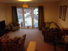 Double room available in fully furnished 2 bedroom town centre flat, flat share with young female