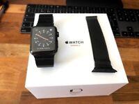 42mm Stainless Steel Apple Watch Series 3 Space Grey - With Space Grey Link Bracelet & Milanese loop