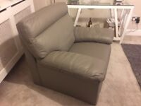 Harveys Grey Real Leather Armchair In Excellent Condition