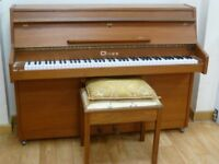 Upright piano used