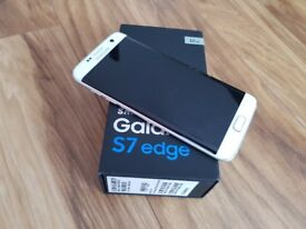 SAMSUNG S7 EDGE WHITE MINT CONDITION LIKE BRAND NEW UNLOCKED BOXED