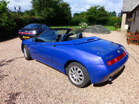Lovely example of this iconic car. Alfa Romeo Spider in blue, electric hood, carefully looked after.