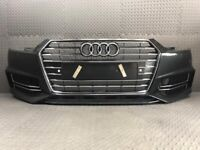 2016-2018 AUDI S4 A4 BLACK EDITION COMPLETE FRONT BUMPER WITH GRILLS IN BLUE - BREAKING, used for sale  Halifax, West Yorkshire