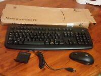 wireless keyboard and mouse bundle. Ideal for desktop PCs. almost new with original packaging