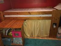 Solid Wood Antique Pine Cabin Bed