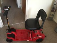 Pro Rider Easy Fold Mobility Scooter Red