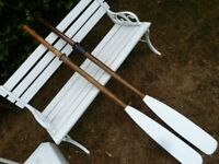 nice pair of classic boat oars 5ft 3inches long