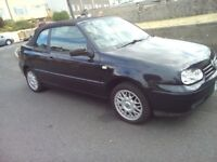 *LOVELY METALIC MIDNIGHT BLUE CONVERTIBLE GOLF REAL NICE*