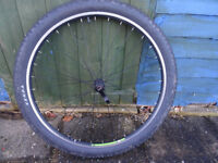 Bike wheel front 27.5 inches inc tyre