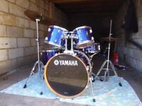 Yamaha Rydeen Drum Kit / Mint Condition / Complete Package / 20 inch / Fine Blue