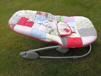 Mamas and Papas Patchwork bouncy chair - baby boy or girl neutral