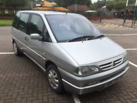 CITROEN SYNERGIE 2.0 DIESEL 7 SEATER X REG IN SILVER WITH GREY TRIM AND MOT NOVEMBER