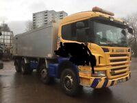 Scania tipper P380 parts for breaking