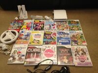 Nintendo wii console, several games and accessories for sale