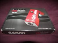 DDrum Acoustic Trigger Set PRO Triggers for Toms , Snare and Bass Drum / Red.