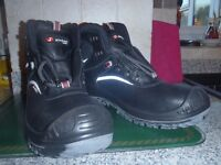 Black Leather Safety Boots