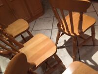 4 beech chairs, available singly