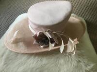 Ladies Pale Pink Occasion Hat by Debut Debenhams Wedding, Races, Baptism Worn once