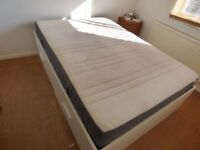 IKEA Double Bed with mattress and 4 integrated drawers. Collection only.