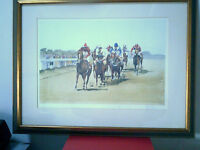 LIMITED EDITION HORSE RACING SIGNED PRINT BY KEEN 779/850