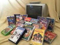14 inch Samsung TV/VCR Combo with 18 Disney Videos