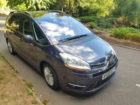 CITROEN GRAND C4 PICASSO 1.6 HDI EGS EXCLUSIVE 2008 * 7 SEATER * AUTOMATIC / PADDLE SHIFT HPI CLEAR