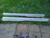stainless steel running side step bars complete with fitting kit