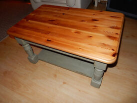 Solid Wood Low Coffee Table Shabby Chic