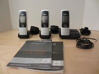 GIGASET C430A CORDLESS PHONE SYSTEM WITH ANSWERING MACHINE LIKE NEW CONDITION