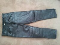 Leather Padded Bike Pants/Trousers