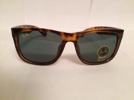 RayBan Justin Sunglasses RB4165 (tortoiseshell brown)