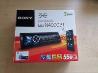 Sony MEX-N4000BT Bluetooth Headunit / Radio / Stereo for car. Single din. NFC