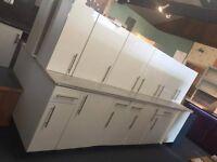 Woodbury White Gloss Kitchen Units & Worktop