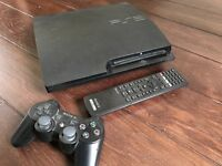 Slim PS3 console with DVD remote and games bundle