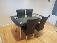 Harveys Glass Dining Table