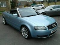 2005/55 Audi A4 1.8T S Line convertible with full service history and low miles