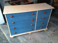 Blue Chest of 8 Drawers