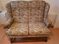 2 seater traditional fabric sofa / chair
