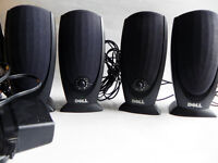 Dell A215 Wired Computer Laptop Music Audio Speakers