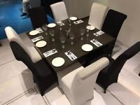 8 SIT RESTAURANT TABLE DINNER WITH CHAIRS
