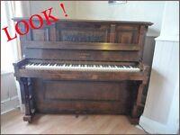 HOPKINSON UPRIGHT PIANO AND STOOL REFURBISHED