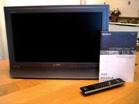 Sony Bravia KDL-20B40xx LCD digital television