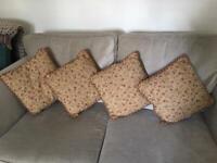 Four Laura Ashley cushions