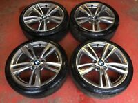 19'' GENUINE BMW 4 SERIES M SPORT F32 F30 F31 ALLOY WHEELS TYRES ALLOYS 3 420D 430D 442 5x120 E90