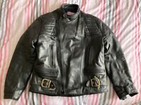 "Scott Leather Motorcycle Jacket - 42"" chest"