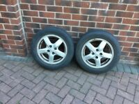 "2x 15"" Genuine Toyota Corolla alloys wheels"