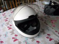 White BMW Ex Police Motor Cycle Helmet Size 58/59 Weymouth